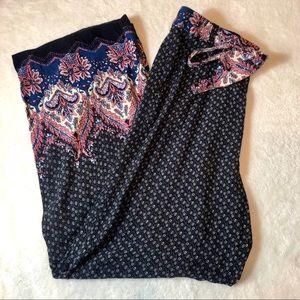 Wide Leg Boho Printed Pants